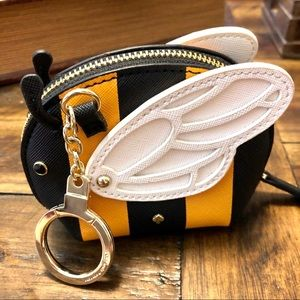 Kate Spade Bee Coin Purse Keychain Pouch NWOT